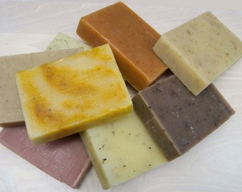 Your Choice Any Eight Cold Process Soaps Scented with Essential Oils