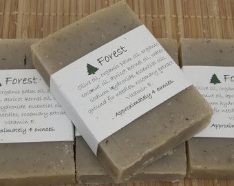 Forest Soap Set of Four 4 oz Bars