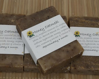 Honey Oatmeal Soap Set of Four 4 oz Bars