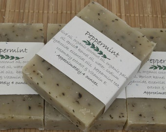 Peppermint Soap Set of Four 4 oz Bars