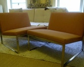 Two Vintage Bernhardt Collectable Orange Chairs Brand New with Tags - Pick Up Only