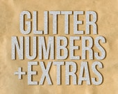 DIGITAL GLITTER NUMBERS / Plus Extras, Ideal for Scrapbooking and Graphic Design Projects