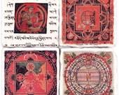 Mandala Coaster Set - 14th Century Mandalas