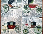 Coasters, Coaster Set French Carriages