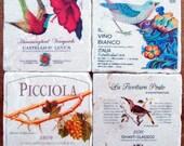 Kitchen Decor, Stone Coasters, Wine Label Marble Coasters