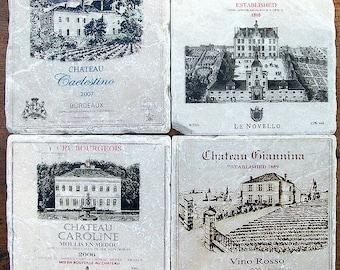 Coasters, Wine Label Stone Coasters