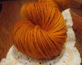 Wool Yarn - Tangerine Bulky Weight Hand Dyed