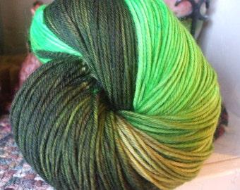 Avocado Hand Dyed Superwash Merino Sock Yarn