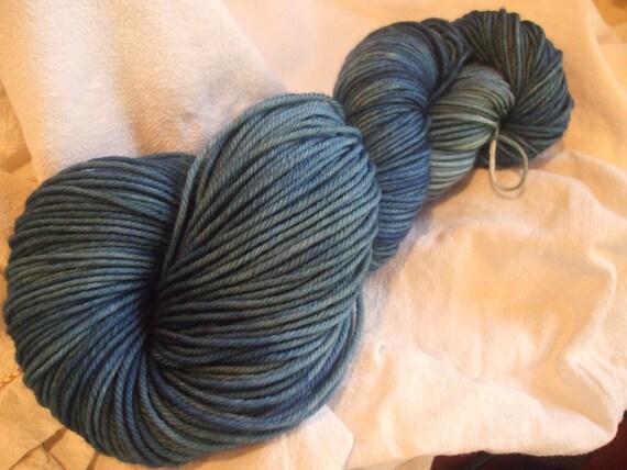 Special listing for Nada-Leaden Skies DK Weight Superwash Merino Wool Yarn and Verdigris bulky