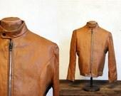 Vintage 70s Motorcycle Jacket // Cafe Racer