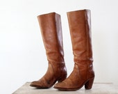 Vintage Frye Boots //  Tall Leather Cavalry // Womens Size 7