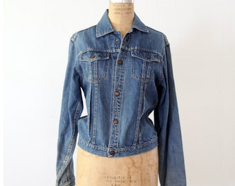 1970s denim jacket by Montgomery Ward, snap front jean jacket
