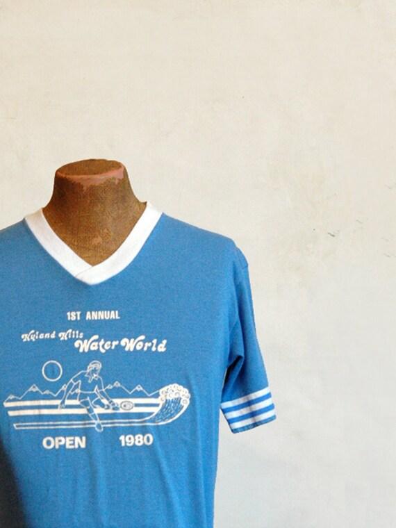 1980s Tennis T-Shirt // Vintage Tournament Tee // Large