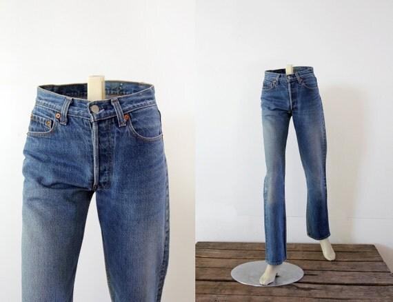 Vintage Levis 501 Jeans // 80s Denim - W 27 L 32