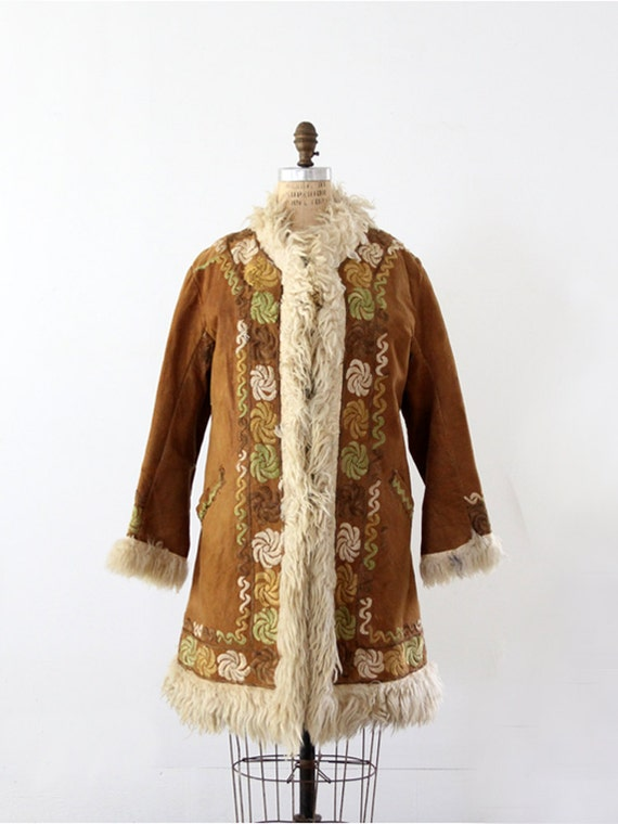 ON RESERVE 1960s Bohemian Fur Coat // Vintage Afghani // Hippie Dreams