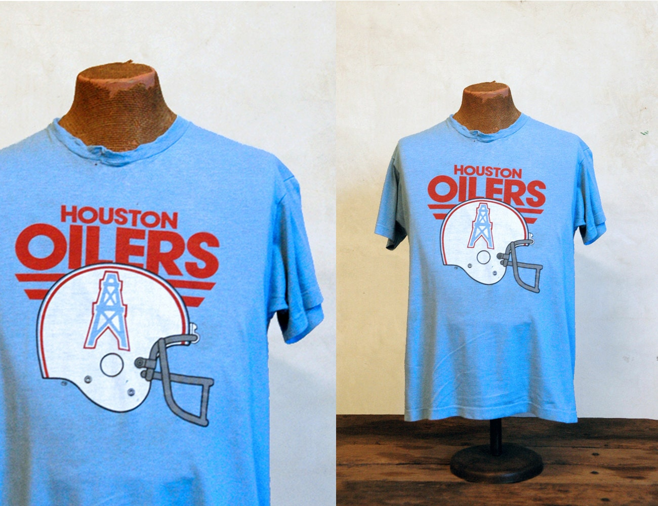 1980s Vintage Houston Oilers T Shirt Football Titans