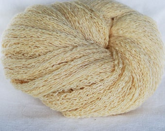 Cashmere Silk Rayon  Recycled Yarn, Soft Yellow, Worsted Weight, 480 yards, Huge Skein