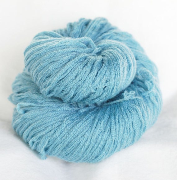 Merino Wool Recycled Yarn, Teal, Worsted Weight, 227 yards