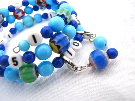 Clearance - Blue Mommy Brain Bracelet