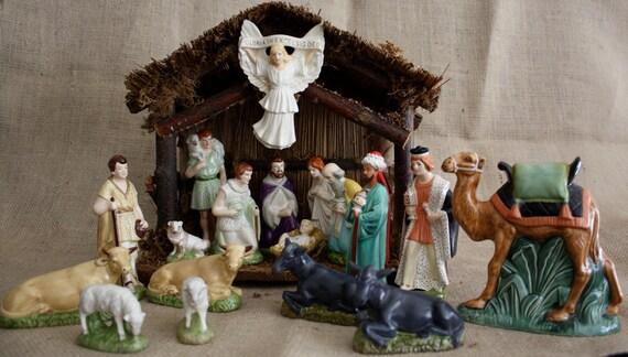 Vintage Christmas Creche Nativity