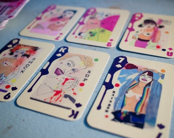 """Sarah Beetson Playing Cards - Slurp """"R"""" Rated"""