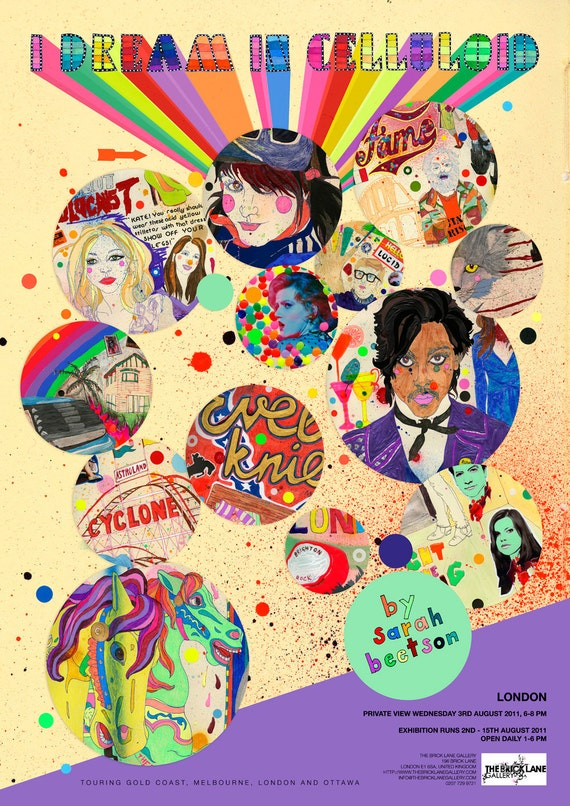 I Dream In Celluloid - London Exhibition Poster by Sarah Beetson