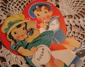 World War II era Valentine Card, sugar rationing, dated 1945, Pristine, More Valentines in store from 30s, 40s, 50s