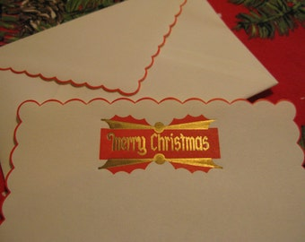 Vintage  Christmas Letter , Revive the art, Make a memory,  NOS Vintage Merry Christmas stationary &  seal, great for Santa letters