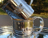 Silver Plated Royal Mugs with Crowns