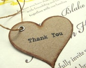 Thank You Wedding Favor Tags - Rustic, Vintage-Inspired, Natural
