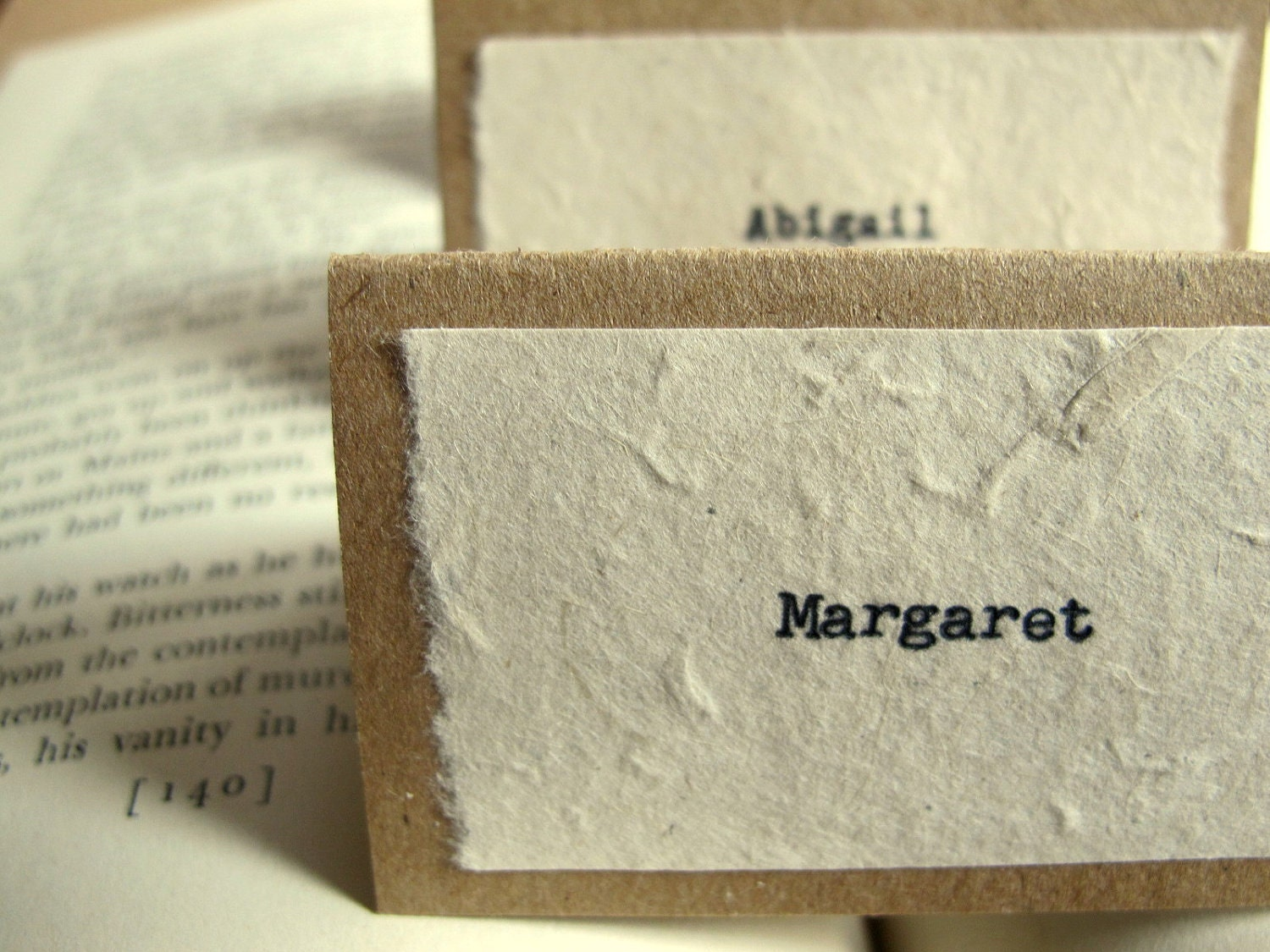 Vintage wedding place cards escort cards organic by joblake for Place card for wedding