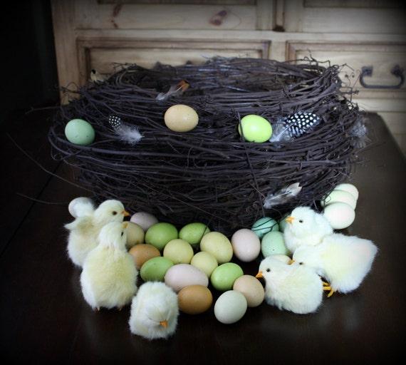 SALE- Large Dark Brown Bird Nest Baby Spring Photo Prop