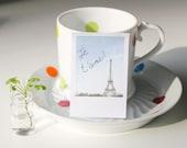 Cute Polaroid Paris Sticky Notes.