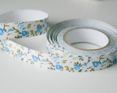 Floral Fabric Tape - Blue and Yellow Flowers