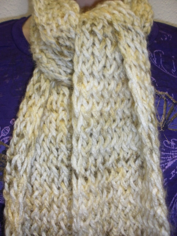 Knitted Scarf - Almond
