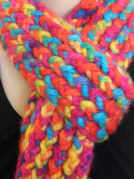 Knitted Skinny Scarf - Rocky Mountains