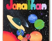 Wooden Name Puzzle | Outer Space