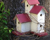 Backyard Birdhouse Blank note card by Carla Garloff