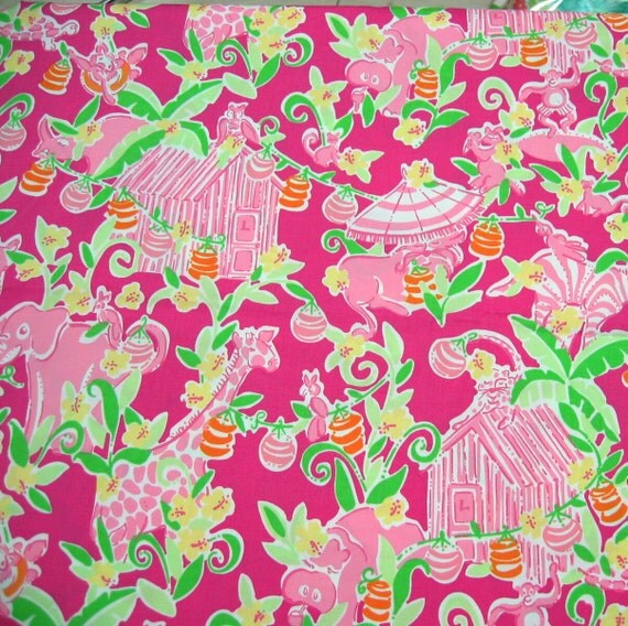 Authentic New Lilly Pulitzer Fabric Slaterock House 1 Yard  x 57  inches