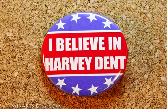 Batman Harvey Dent Political Support Pin-back Button or Magnet