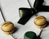 Necklace - French Macaroons, a tea or a coffee