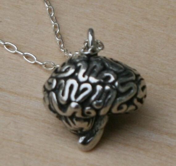 3-D Brain Necklace