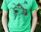 Vintage Columbia County 50 T-shirt, Green, Size Large