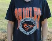 1990 Baltimore Orioles T-shirt, Black, Size Medium