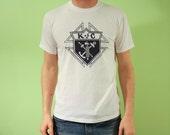 Vintage Knights of Columbus T-shirt, White, Size Large
