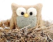Needle Felted Owl - Mini