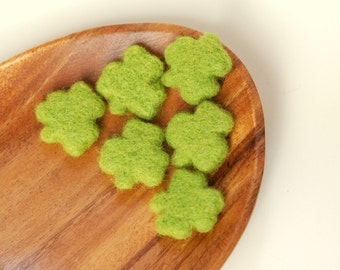Needle Felted Shamrocks green st Patrick's day decor luck spring