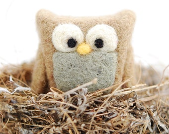 Needle Felted Owl - Mini