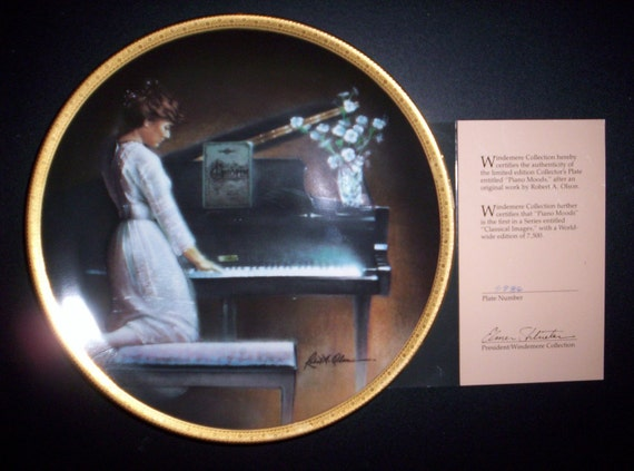 Vintage Piano Moods Collector Plate