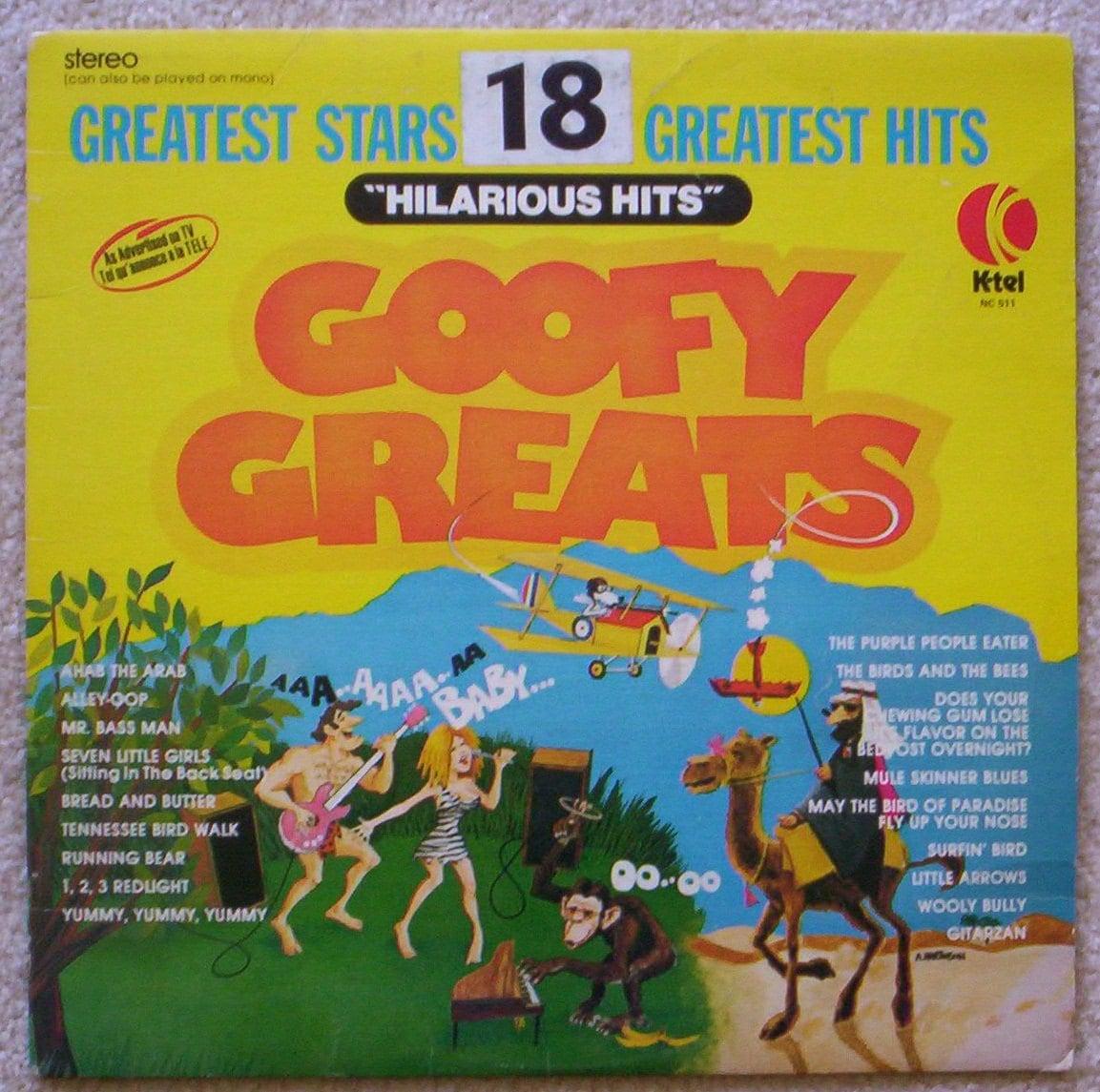 Vintage Goofy Greats Hilarious Hits K Tel Vinyl